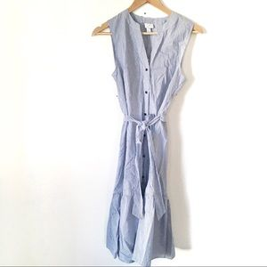 NWT A New Day Henley Collarless Striped Dress